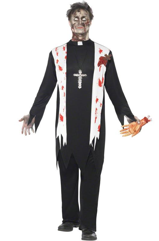 ハロウィン パーティ コスプレ ゾンビ Zombie Priest 大人用 衣装 大人用 面白い ホラー 怖い 学園祭 文化祭 大学祭 コスチューム 変装 仮装