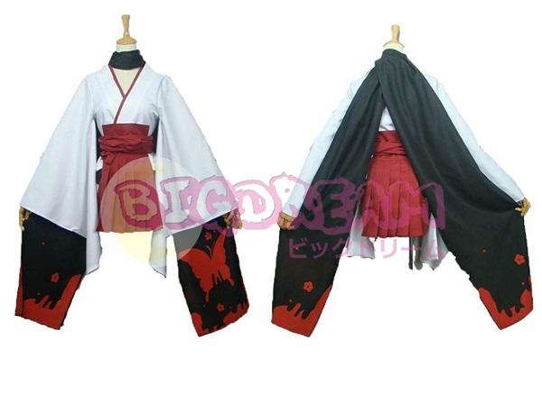 【妖狐×僕SS コスプレ】衣装 妖狐×僕SS 白鬼院凜々蝶  和服 着物 cosplay 衣装  ウィッグ追加可