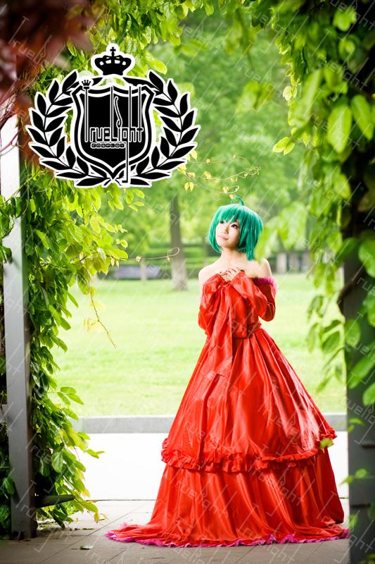 画像(マクロスF ランカ・リー 二人の歌姫 赤ドレス コスプレ 衣装 by