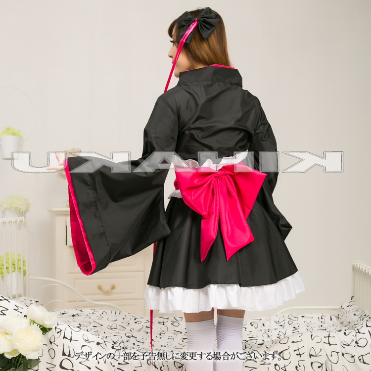 画像(コスプレ   黒 着物ドレス love live ラブライブ コスプレ衣装 メイド キャラクター ハロウィン 【送料無料】《代引き・日時指定不可・沖縄/離島への発送不可》)1