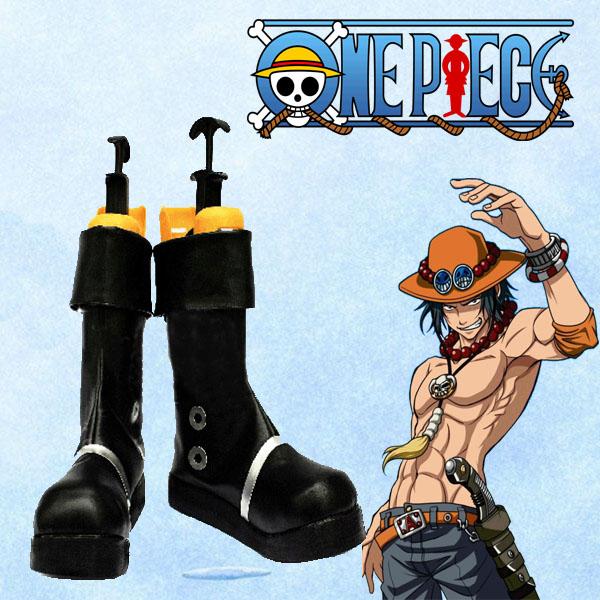 【送料無料】ポートガス D エース ASCE 火拳 ONE PIECE 高品質コスプレ靴 ワンピース 白ひげ海賊団 隊長