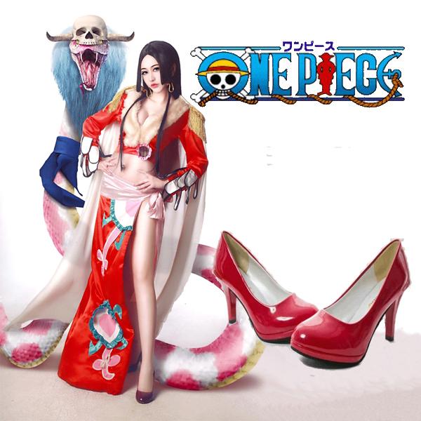 【送料無料】ONE PIECE 高品質 ボア・ハンコック 海賊 女帝 コスプレ靴 ワンピース 蛇姫 七武海 九蛇海賊団