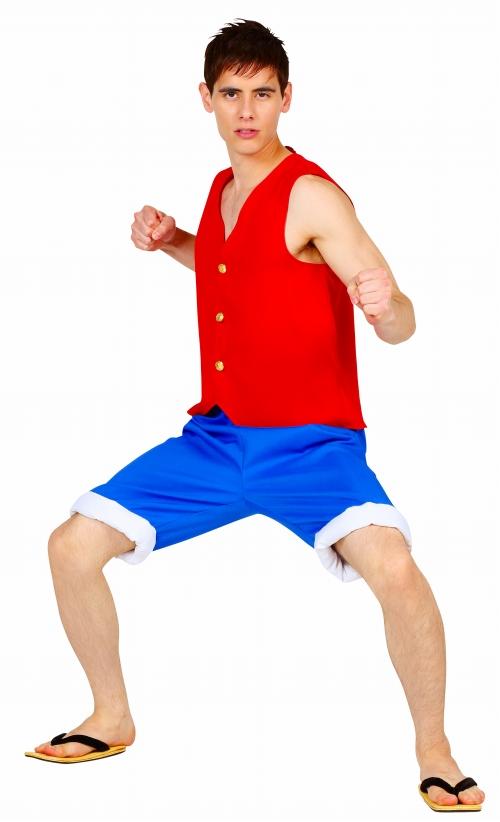 画像([ルフィ コスプレ] コスの極み 夢をつかむ少年  [男性衣装 コスプレ コスチューム ワンピース モンキーDルフィ 海賊王 なりきり 仮装 ハロウィン]【A-1551_867425】)1