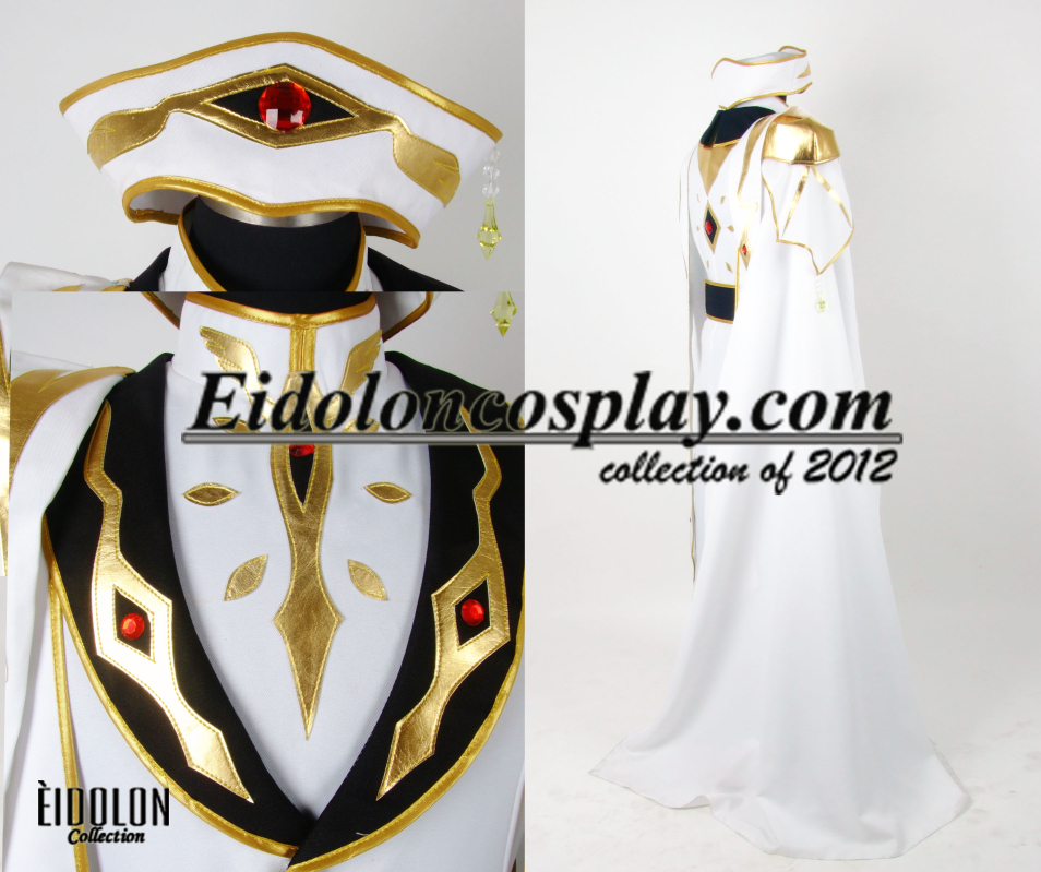 EE0014AB CODE GEASS Lelouch of the Rebellion  Emperor Cosplay costume