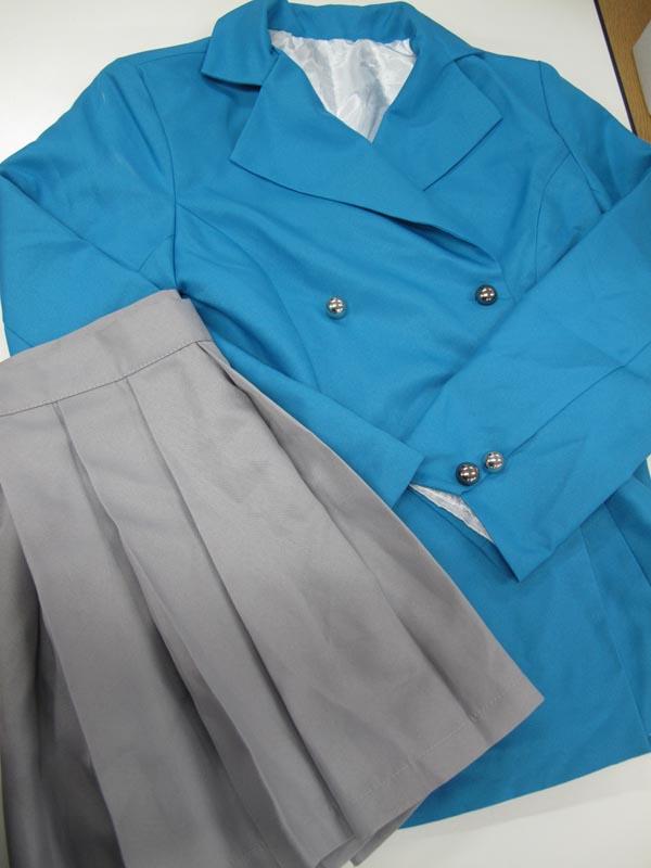 ◆コスプレ衣装◆薄桜鬼 SSL/女子制服・上着+スカートのみ・上着肩汚れ(女性M)はくおうき/コミケ/仮装/中古