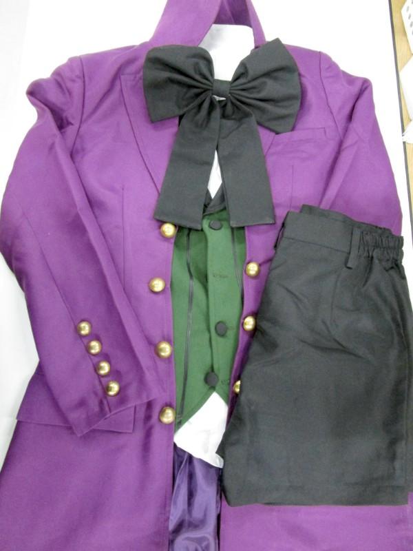 ◆コスプレ衣装◆黒執事/アロイス・指輪+ウィッグ付・全体やや汚れ・ブーツカバー傷み(女性M)【中古】