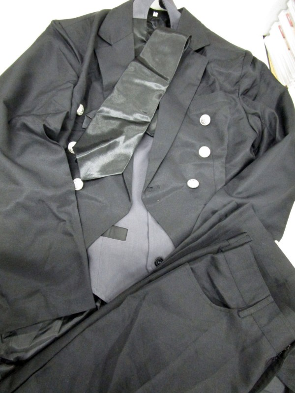 ◆コスプレ衣装◆黒執事・Book of/セバスチャン・シャツ欠品・パンツ汚れ【中古】