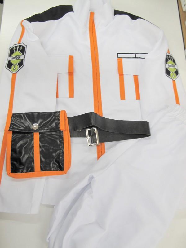◆コスプレ衣装◆ワールドトリガー/雨取千佳・上着+パンツ+ポーチ付ベルトのみ・上裏地汚れ(女性M)【中古】