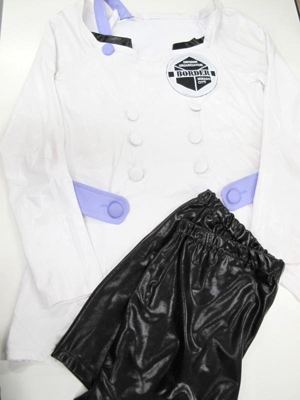 ◆コスプレ衣装◆ワールドトリガー/那須隊・上着+パンツのみ・上着傷み+汚れ(女性)【中古】