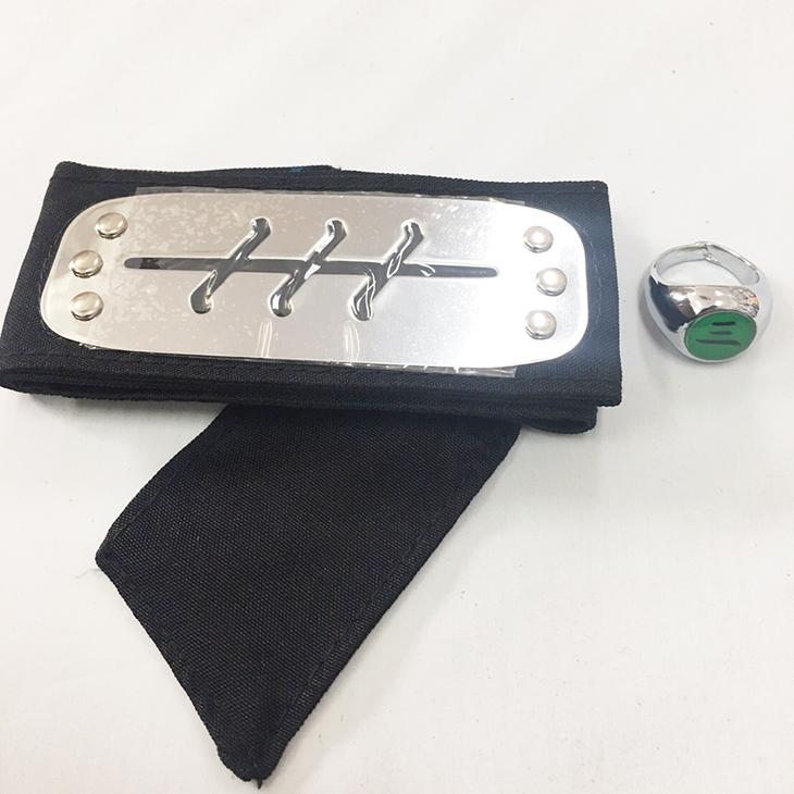 【★送料無料★】コスプレ用小物 NARUTO-ナルト- 暁・飛段 額当て+三指輪