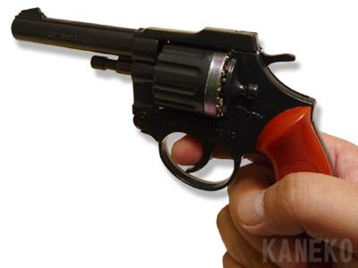 画像(【玩具ピストル】 カネキャップ 12連射用ピストル(日本製)  [カネキャップ おもちゃ ピストル 玩具ピストル 拳銃 ルパン三世 次元大介 コスプレ 小道具 銃 音だけ])1