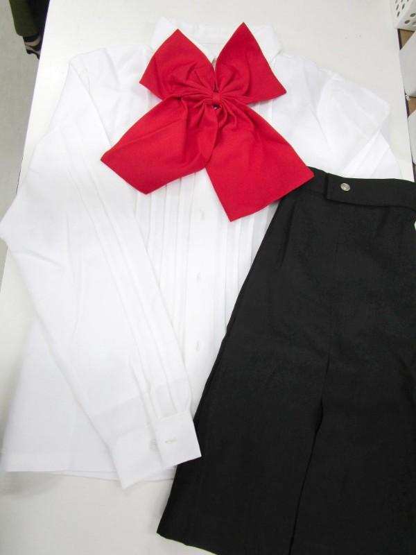 ◆コスプレ衣装◆ペルソナ3/桐条美鶴・腕章+ガンホルダーなし・シャツやや汚れ(女性XL)【中古】
