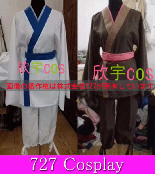 SX128☆鬼灯の冷徹 茄子or唐瓜 着物 耳 角 小物追加可能 コスプレ衣装 ウィッグ追加可能!