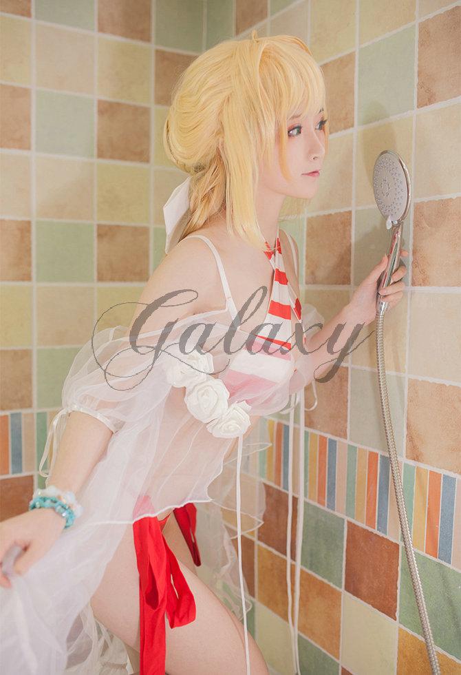 画像(FGO Fate/Grand Order  水着ネロ (キャスター) ネロ・クラウディウス コスプレ衣装 wow515)1