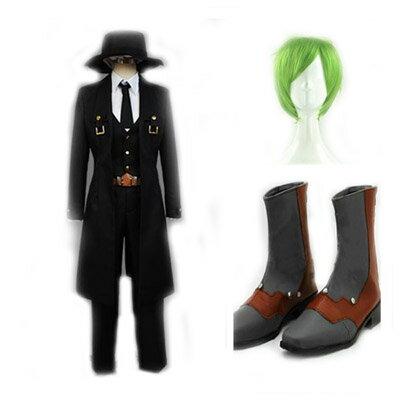 コスプレ衣装+ウィッグ+靴 BLAZBLUE ブレイブルー ハザマ「HAZAMA」変装/仮装/豪華/華麗/高品質